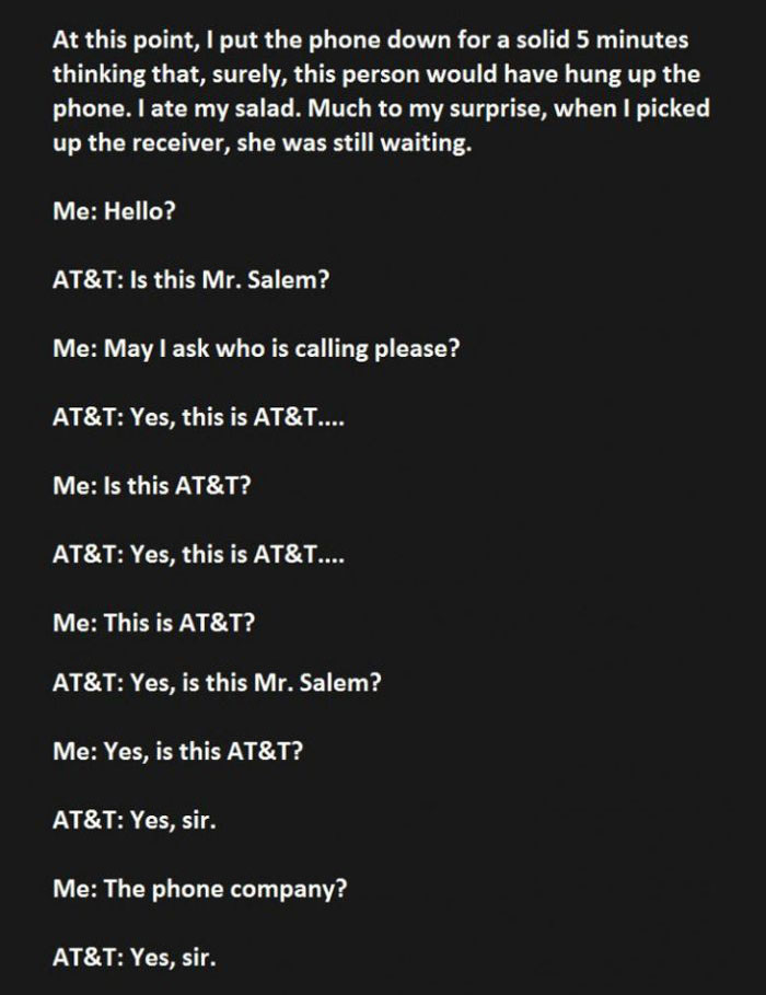 When AT&T Interrupts Your Dinner You Troll Them Hard