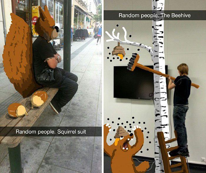 Snapchat User Turns Random People Into Works Of Art