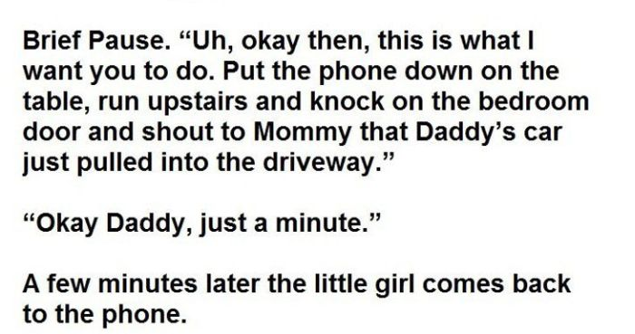 Daughter Lets Dad Know Mom Is Having An Affair