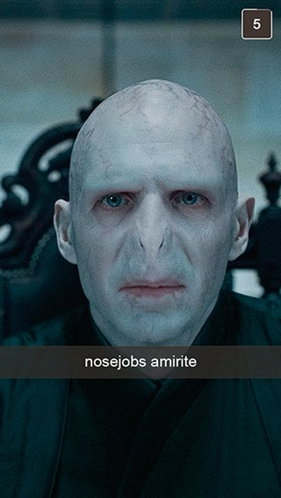 If Harry Potter Characters Used Snapchat