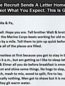 This Marine Sent A Letter To Home