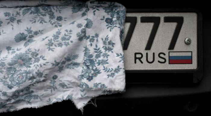 How Russians Hide Their License Plates