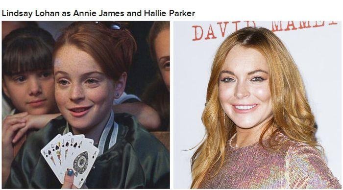 """The Cast Of """"The Parent Trap"""" Back In The Day And Today"""