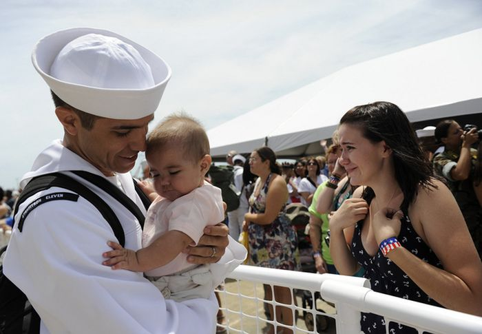 Military Men Meet Their Children For The First Time