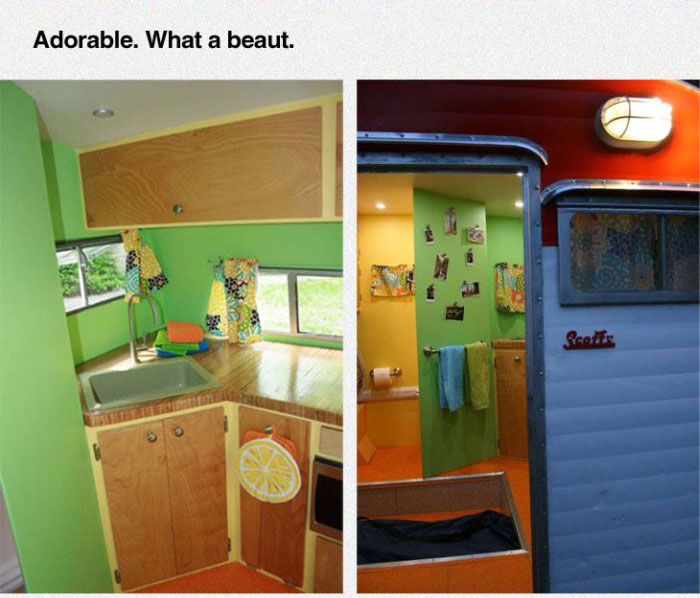 Couple Turns An Old Camper Into Something Awesome