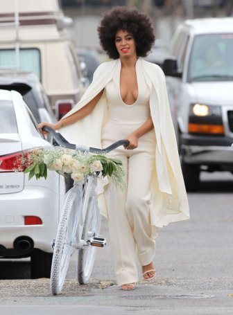 Solange Wears A Special Jumpsuit To Her Wedding