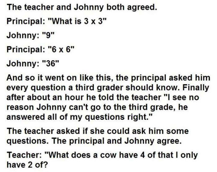 This Kid Said He Was Too Smart For The First Grade