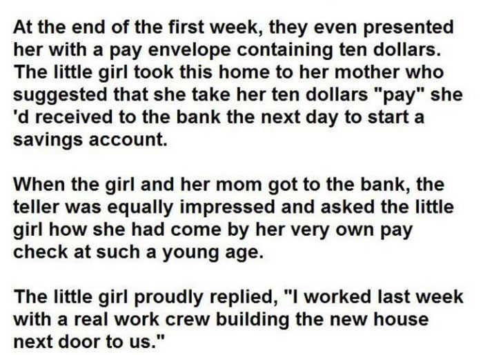 5 Year Old Girl Says Something Priceless To A Construction Crew