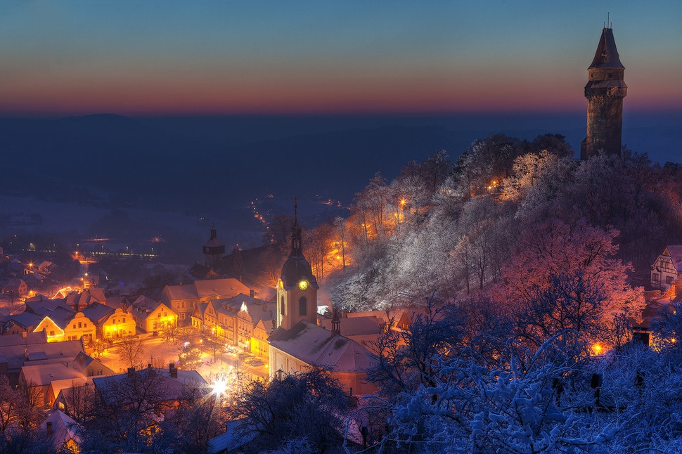 Beautiful photos of cities in winter