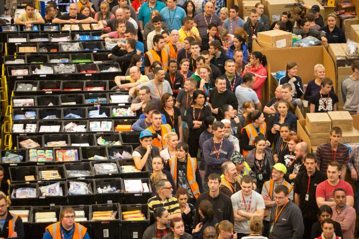 The Amazon Warehouse Is A Madhouse Before Christmas