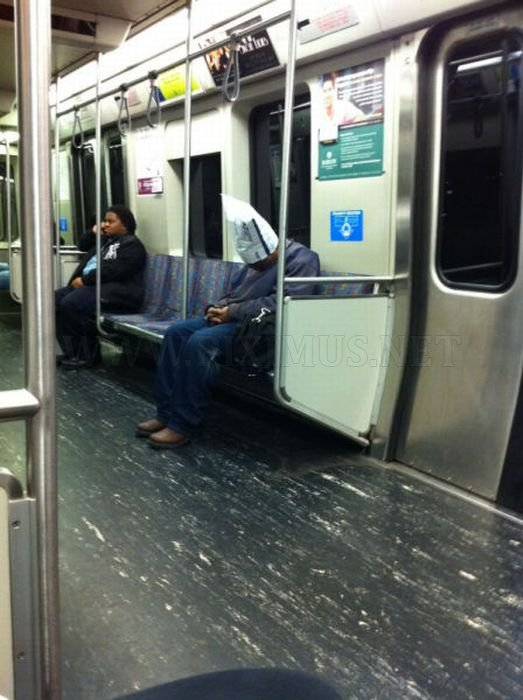 Pictures of Funny People Riding Subway