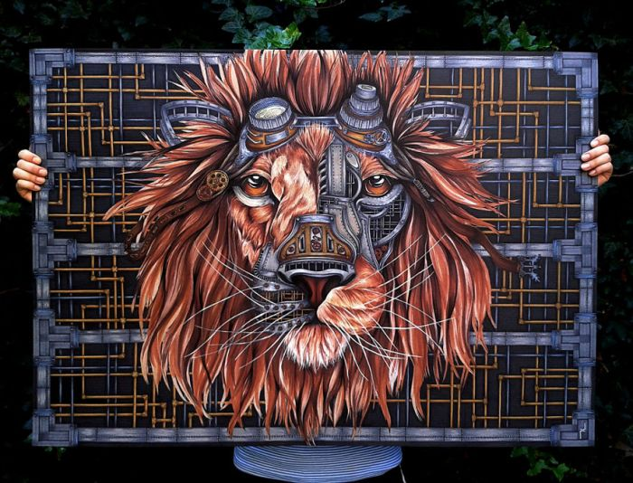 How To Draw A Steampunk Lion Step By Step