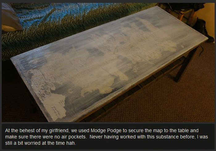 These People Made A Table Of Westeros From Game Of Thrones