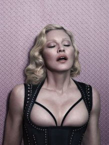 Madonna Poses Topless For Interview Magazine