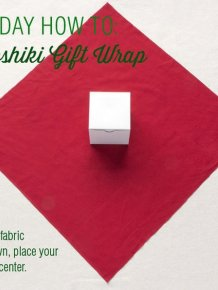 How To Use Old Fabric To Wrap Your Gifts
