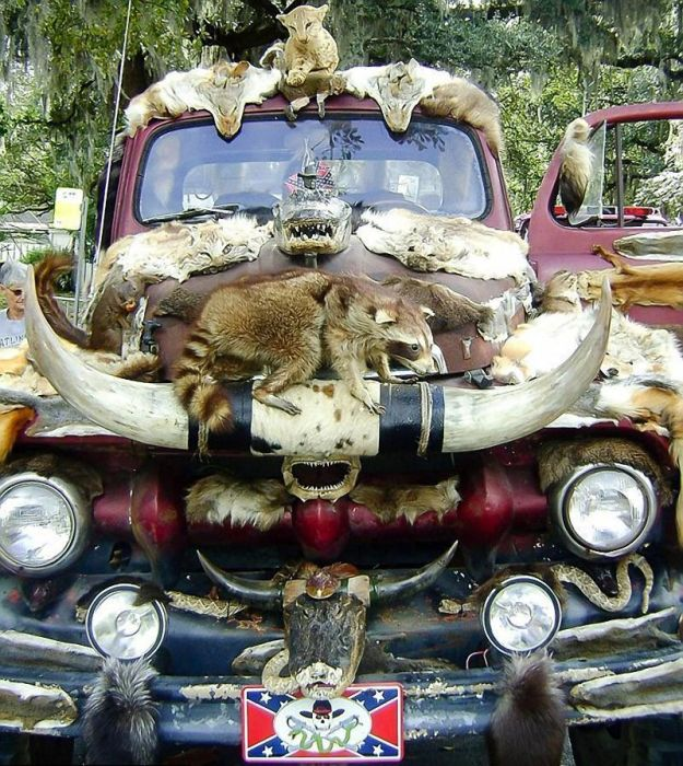 This Truck Is Decorated With 50 Different Animals