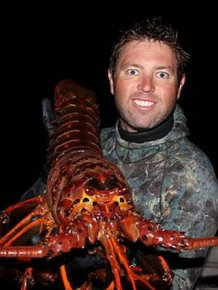 This Man Found A Giant Lobster Off The Coast Of California
