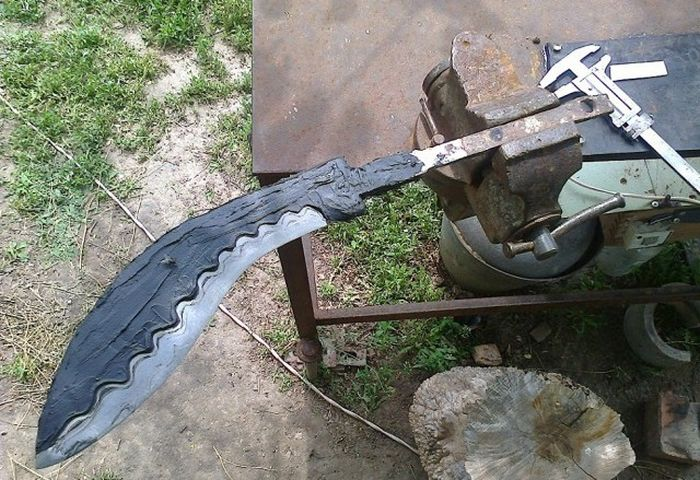 This Is A Beautiful Genuine Homemade Khukuri Knife