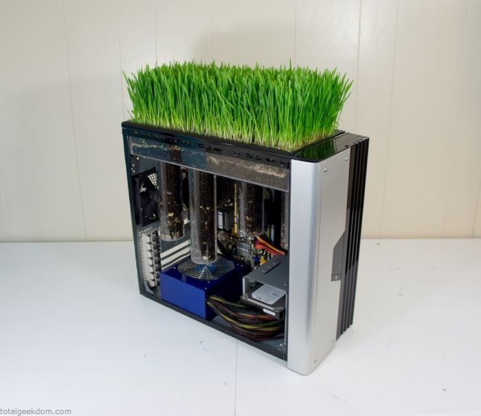 This Working Computer Also Grows Grass