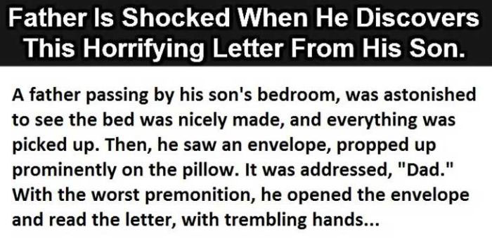 Dad Is Shocked When He Reads His Son's Letter But The Ending Is Perfect