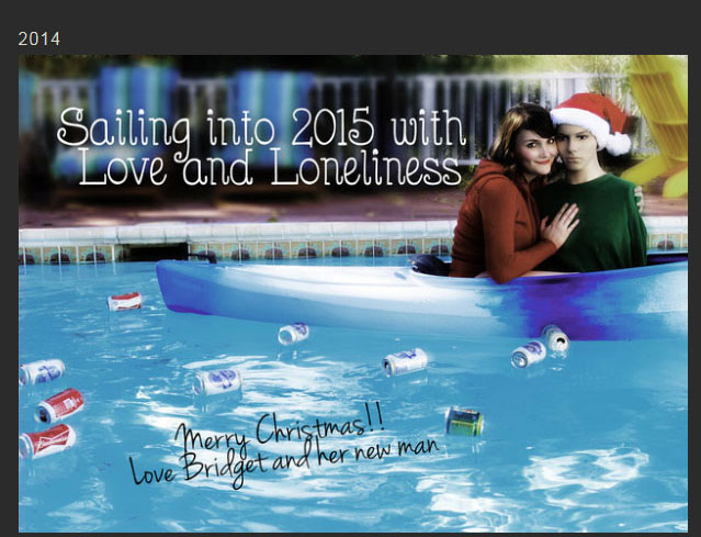 Sister Embraces The Single Life With Christmas Cards