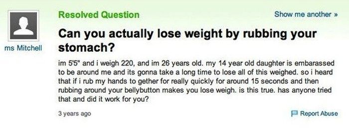"""Yahoo Answers"" Questions Show There's No Hope For Humans"