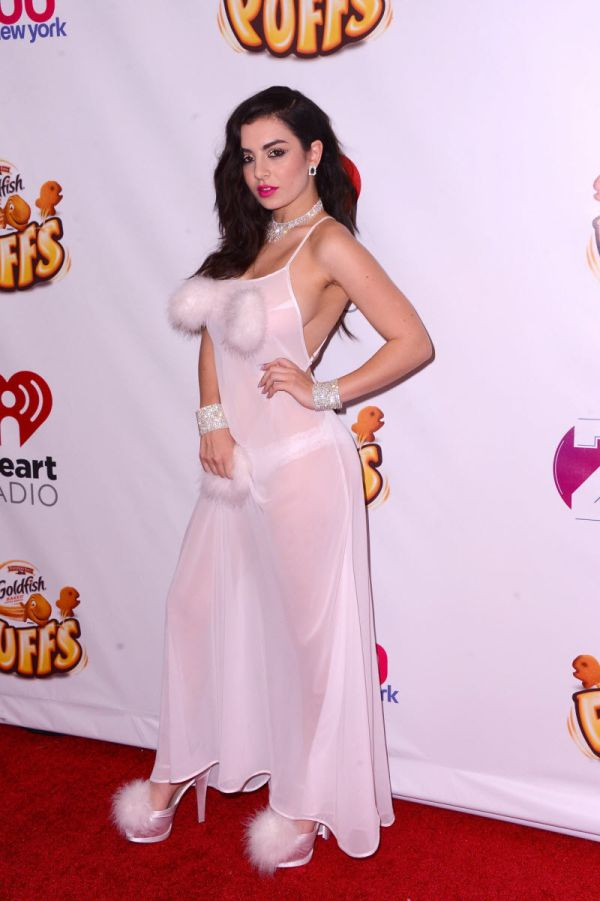 Charli Xcx Walks The Red Carpet In A Revealing Dress Celebrities