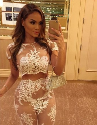 Daphne Joy Steps Out In A See Through Dress