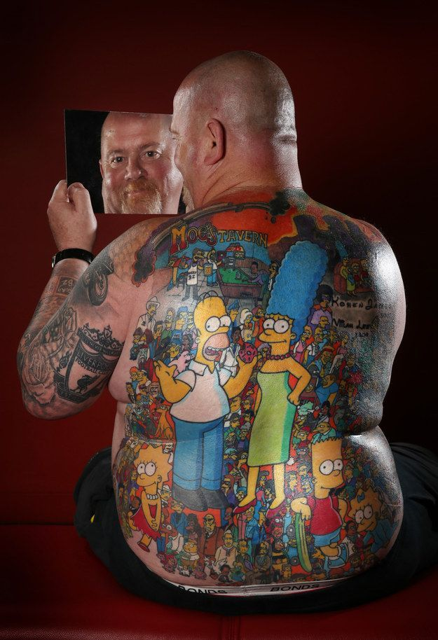 The Coolest Simpsons Tattoo Ever