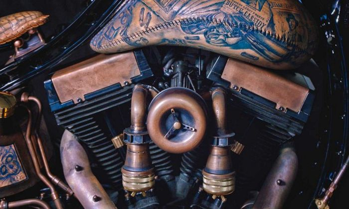 This Motorcycle Is Covered In Tattoos