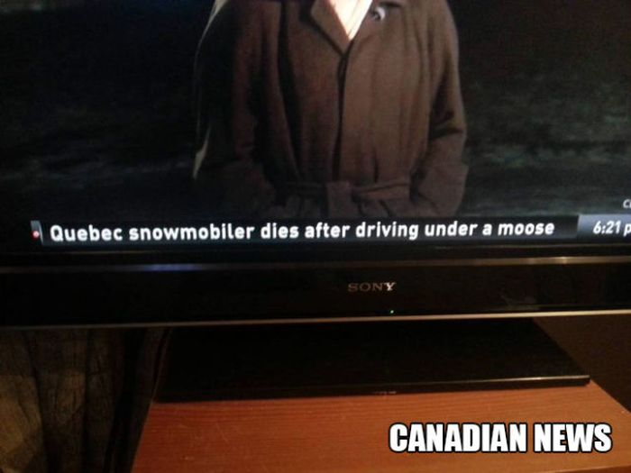 Only in Canada..., part 2