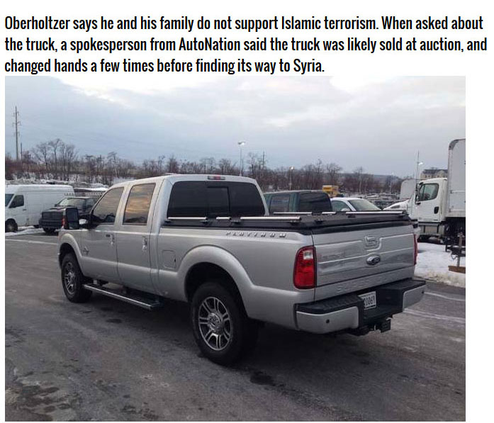 This Man Traded In His Truck And It Ended Up In The Hands Of Terrorists