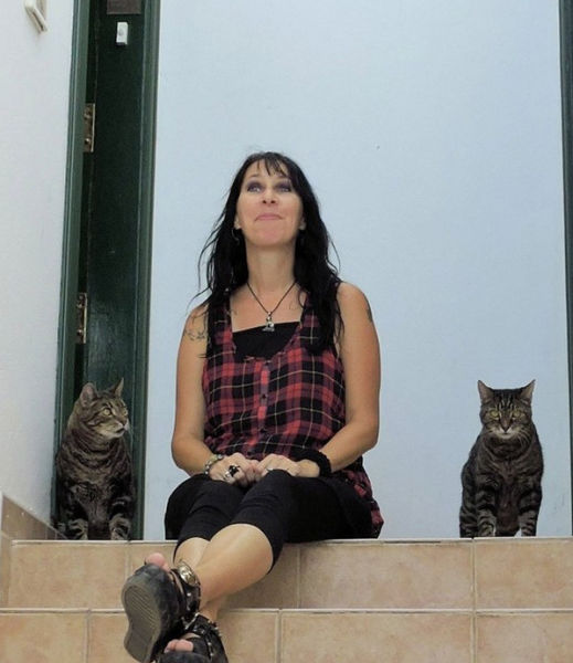 This Crazy Woman Married Her Two Cats