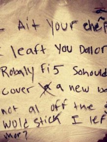 Drunk People Leave The Funniest Notes