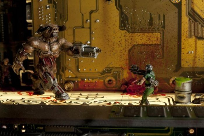 Epic Homemade Sculpture Of The Game Doom 2, part 2