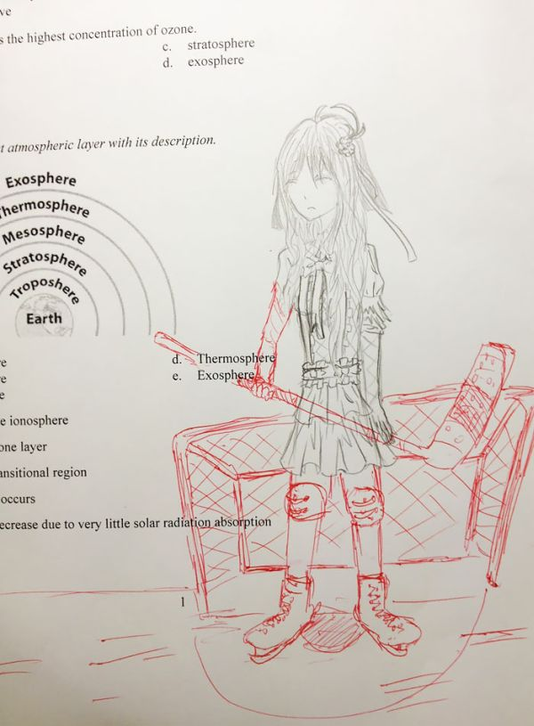 This Teacher Finishes His Students Doodles And It's Awesome