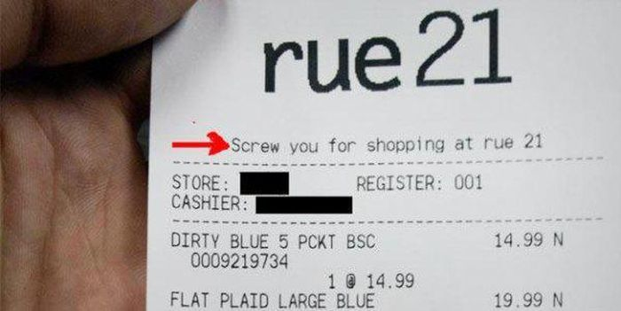 Are These Receipts Laughing At You Or With You?
