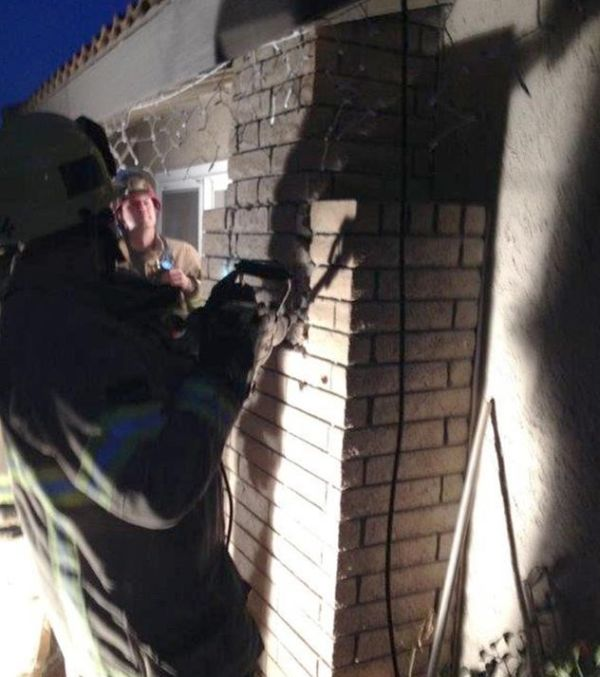 Mother Of Three Tries To Break Into Home Through Chimney