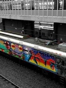 Rad Train Graffiti