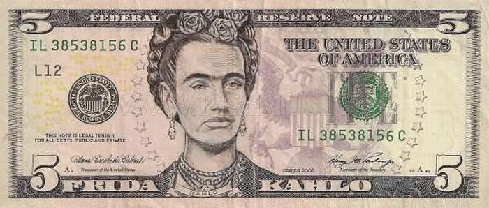 Funny $5 Dollar Bill Defaces