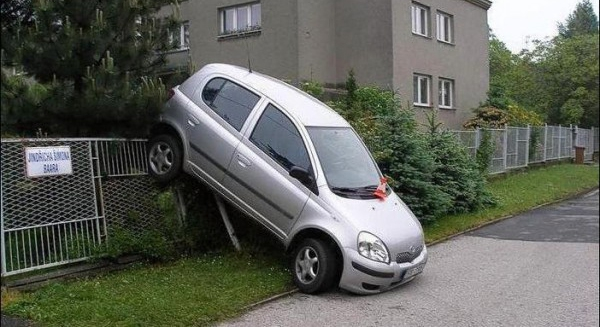 Funny car accidents