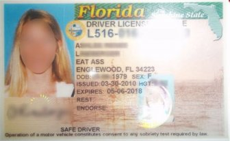 According To Her License This Woman Lives On Eat Ass Street