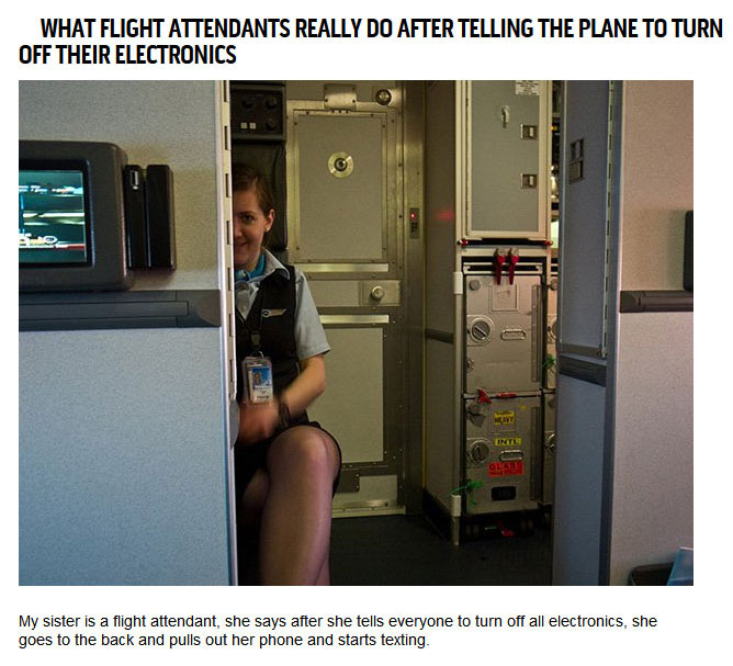 Confessions From Pilots and Flight Attendants