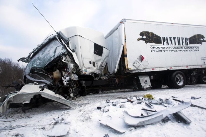 Fireworks Truck Explodes Causing A Huge Pileup In Michigan