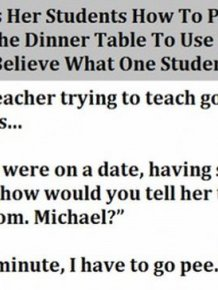 Teacher Tries To Teach Her Students Manners And Their Replies Are Hilarious