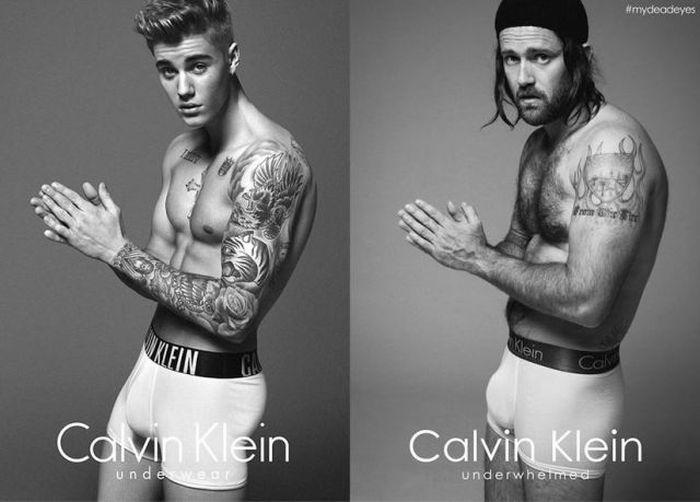 Hipsters Recreate Justin Bieberв's Calvin Klein Photo Shoot