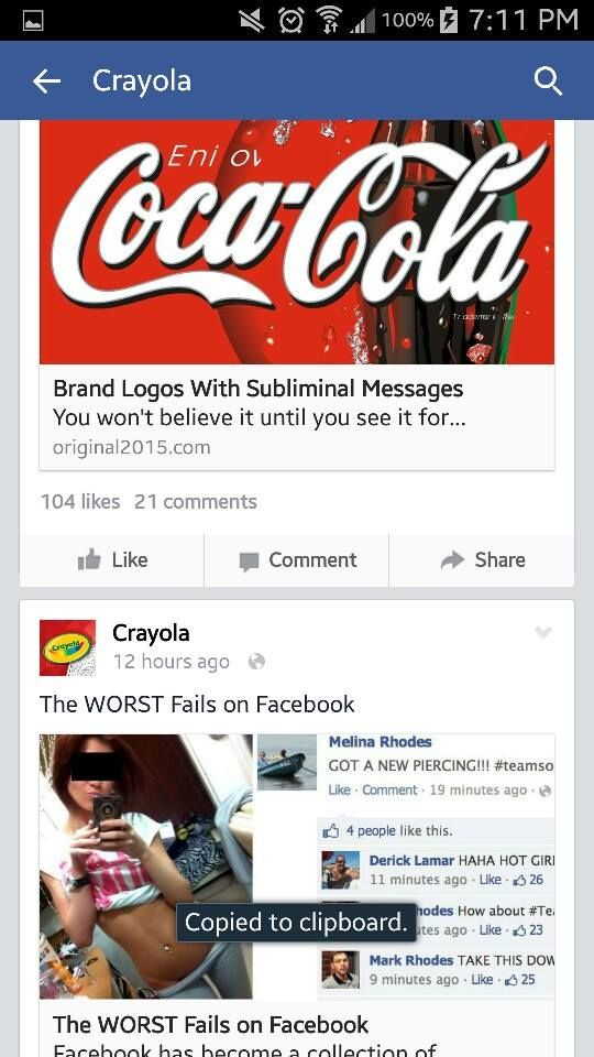 This Is What Happens When Crayola's Facebook Page Gets Hacked