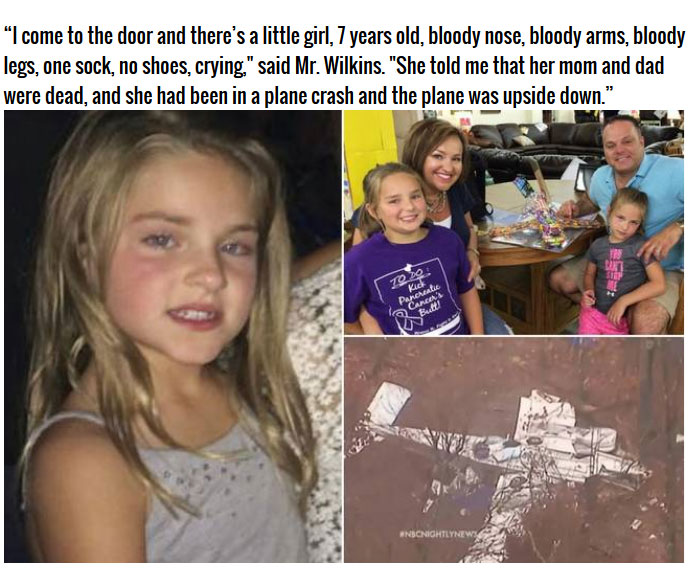 7 Year Old Survives A Plane Crash And Shows Incredible Survival Skills