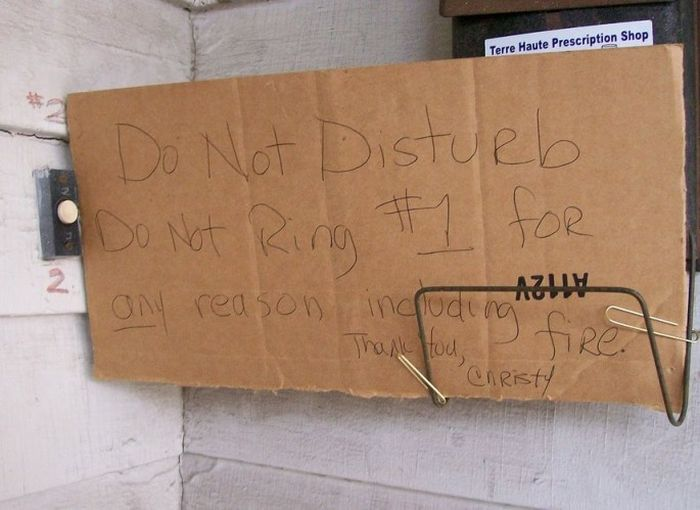 Funny Doorbell Notes From Angry Moms
