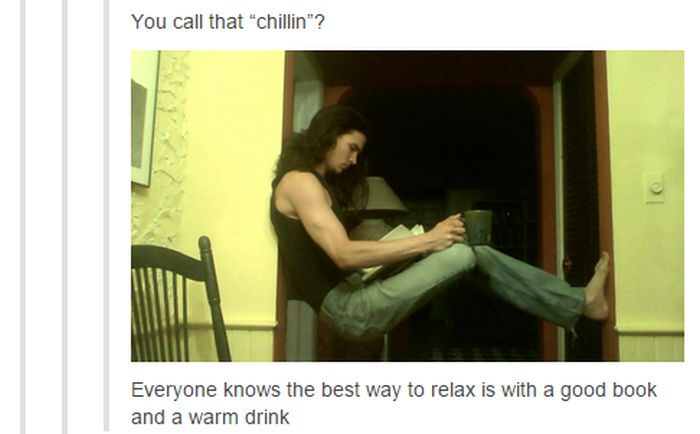 This Is A Pretty Unique Way To Chill